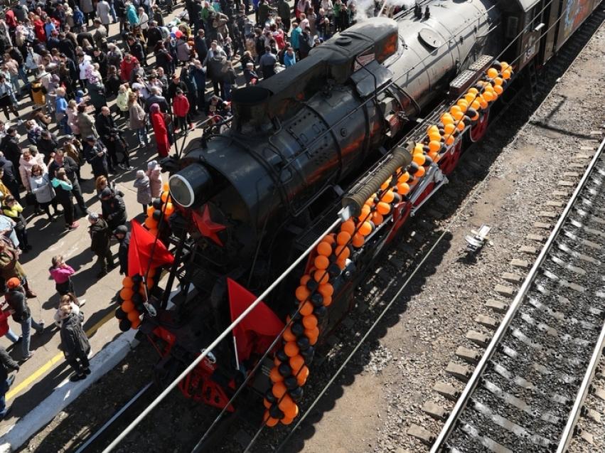 Ретро-поезд Победы отправился 9 мая со станции Чита-2