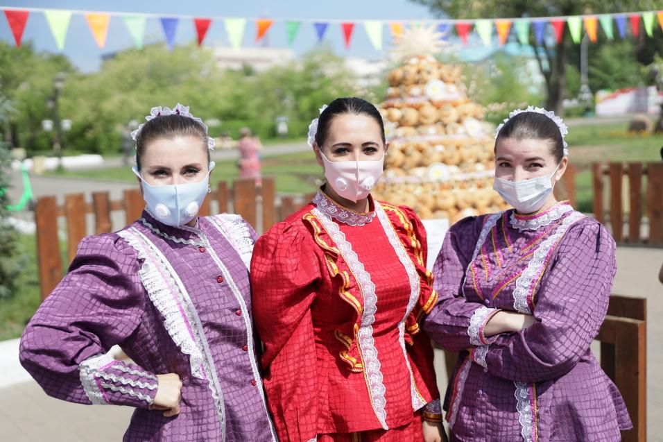 Меры эпидемиологической безопасности приняты на празднике в честь Дня России в Чите