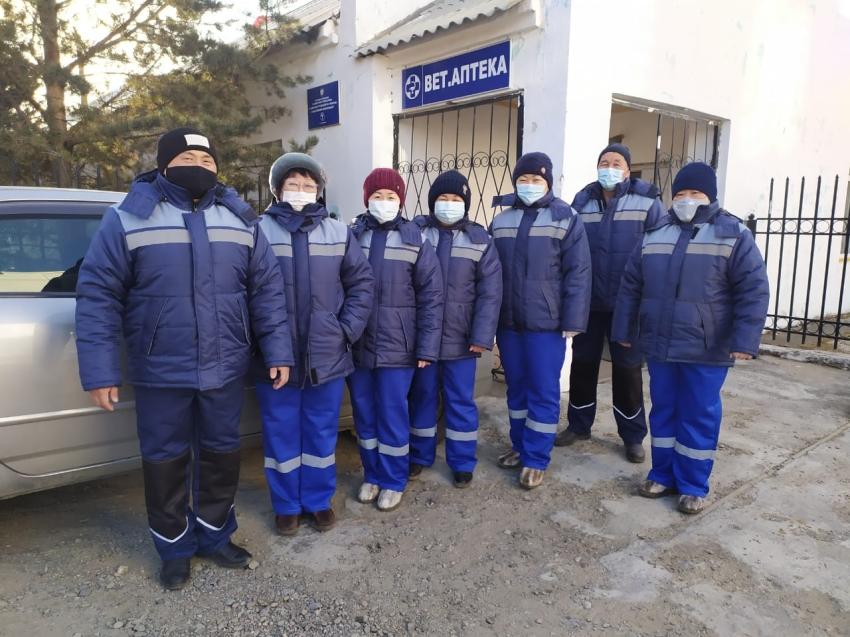 Ветеринарные специалисты Агинской станции закупили форму