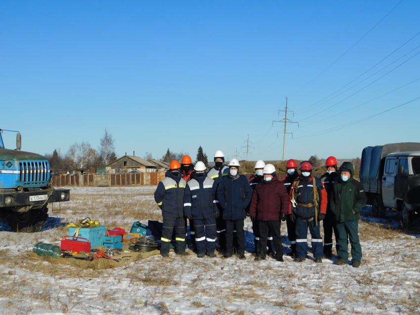 Масштабные учения провели забайкальские энергетики в Шилкинском районе