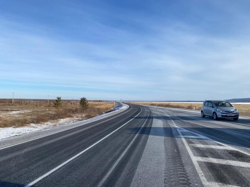 Участок самой интенсивной дороги, ведущей к Арахлейским озерам, отремонтировали по нацпроекту в Забайкалье