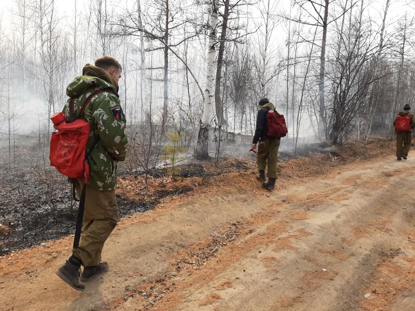 Добровольные пожарные дружины приняли участие в тушении пожара в районе Молоковки