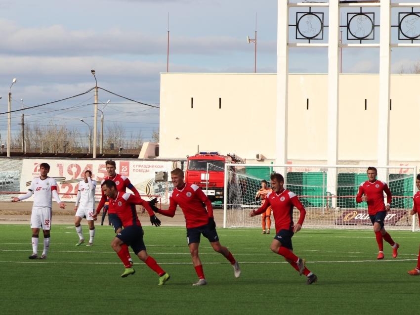 Футбольный клуб «Чита» сыграл вничью на домашнем стадионе