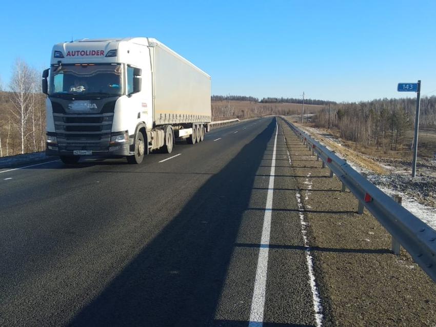 Дорожники закончили ремонт на двух участках федеральных трасс в Карымском районе Забайкалья