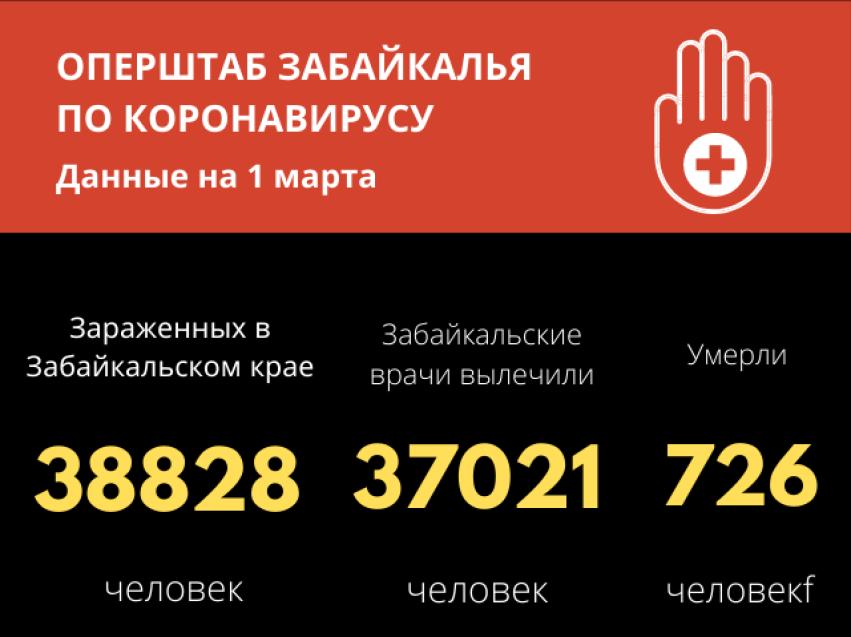 Коронавирус в Забайкалье: Динамика на снижение