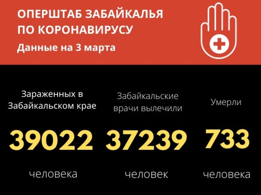 За сутки в Забайкалье от коронавируса выздоровели 112 человек