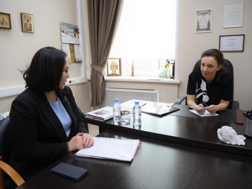Татьяна Цымпилова встретилась с детским омбудсменом РФ