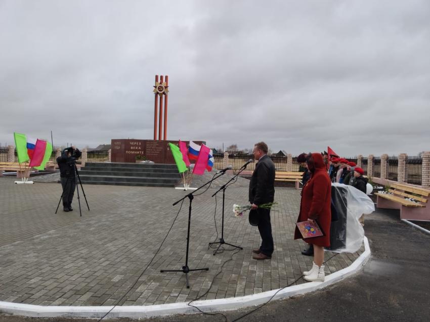 Мемориал в преддверии Дня Победы открыли в посёлке Степь Забайкальского края