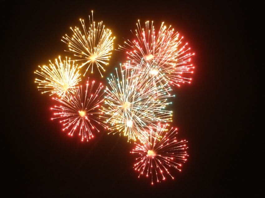 Праздничный фейерверк и салют в честь Дня Победы прогремели в Чите