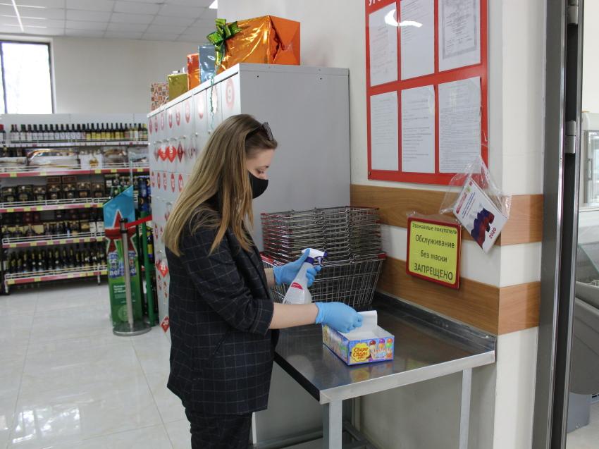 Сотрудники департамента мировых судей проверили в магазинах Читы соблюдение санитарных норм