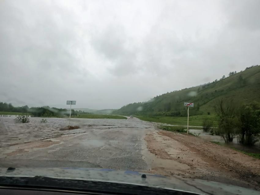 Ситуация с паводками в Забайкалье: Газимуро-Заводский район