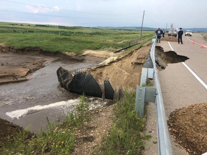 Подъезд к Нерчинску со стороны федеральной трассы «Амур» перекрыт из-за угрозы обрушения дороги