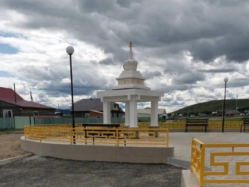 Территорию возле ступы «Хий Субарга» восстановили благодаря нацпроекту «Жилье и городская среда»