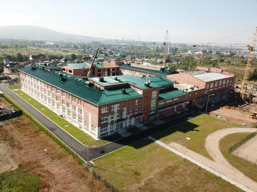 Самая большая строящаяся школа в Забайкалье готова на 90%