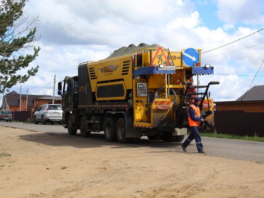 На дороге Смоленка - Карповка Читинского района работы по ремонту завершат в сентябре