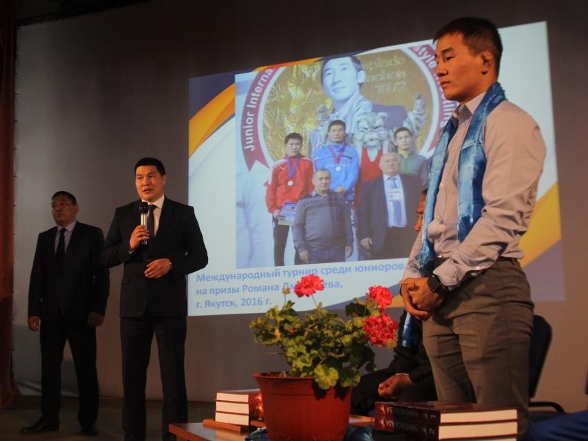 В Агинском районе состоялось торжественное чествование мастера спорта России международного класса Жаргала Дамдинова