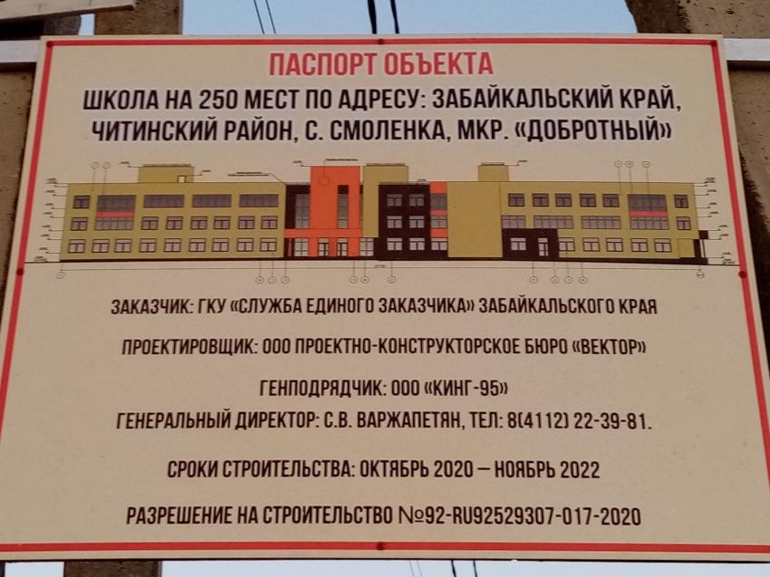В Смоленке началось строительство школы на 250 мест