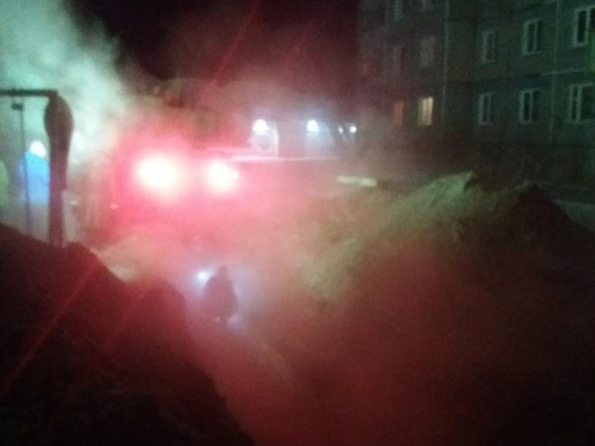 Место порыва теплотрассы в Кокуе определено, начинаются сварочные работы