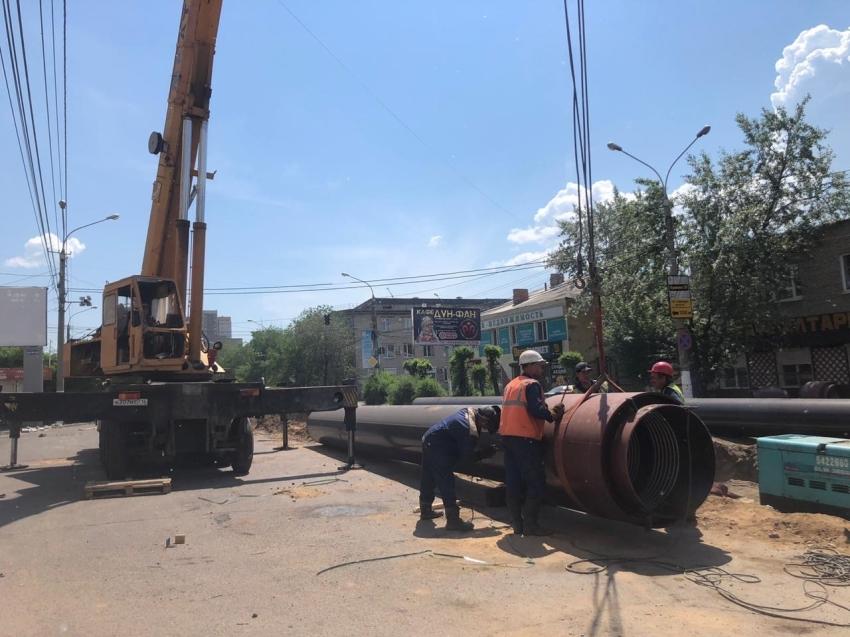 Реконструкция тепловой сети по улице Бабушкина продолжается
