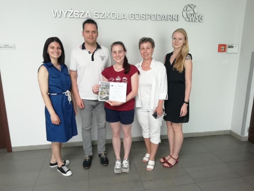Студентка ЗабГУ прошла обучение в польском Университете по программе студенческого обмена