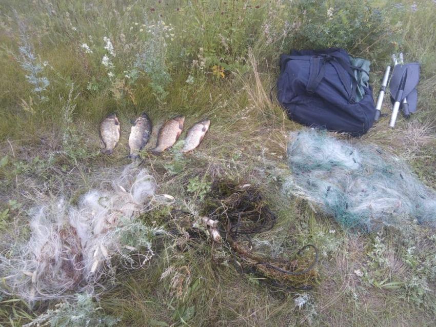 Более одного километра рыболовных сетей изъяли у нарушителей в «Ивано-Арахлейском» парке