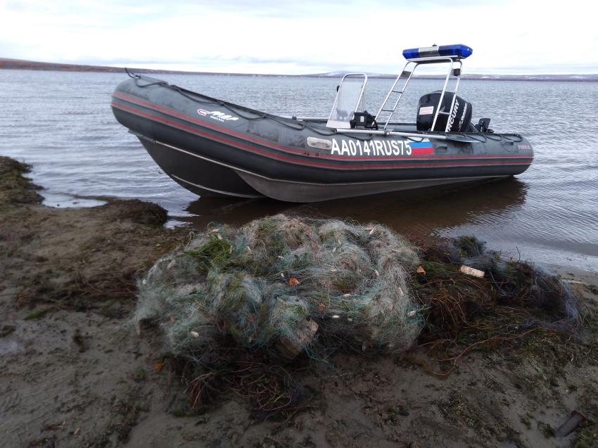 В «Ивано-Арахлейском» парке изъяли более 1,3 километра рыболовных сетей