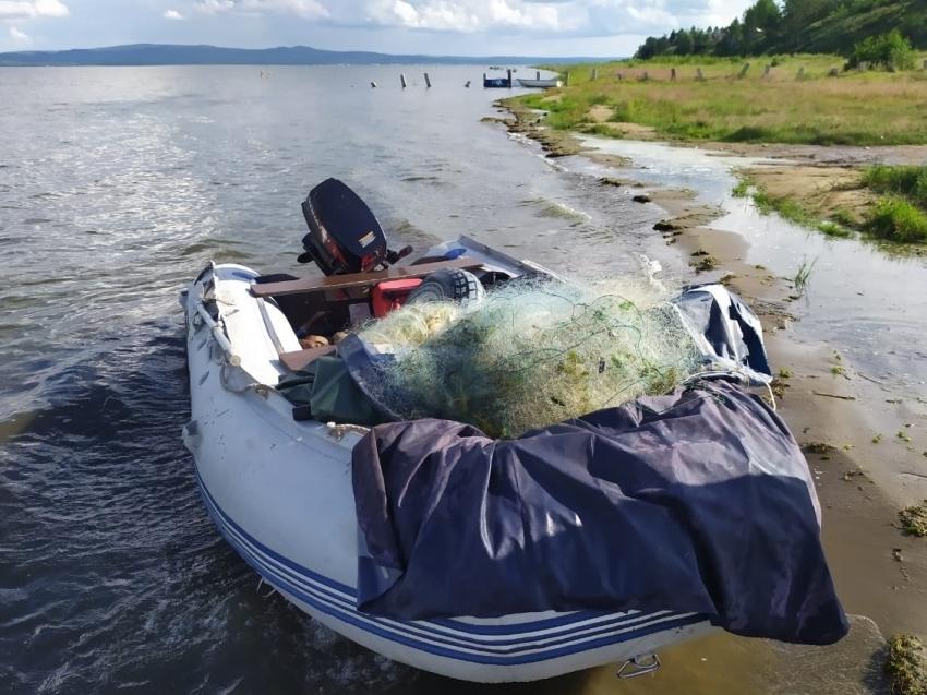 В «Ивано-Арахлейском» парке у нарушителя изъяли 100 метров рыболовных сетей