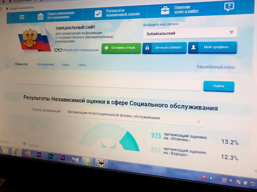 Забайкальцы могут оценить работу социальных учреждений региона