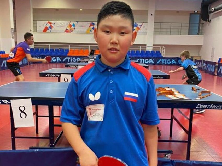 Спортсмен с Забайкалья принял участие во Всероссийском турнире по настольному теннису