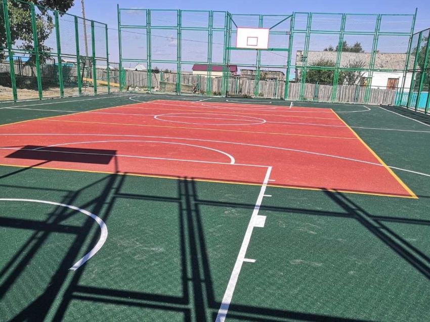 В Ононском районе завершено строительство спортивной игровой площадки