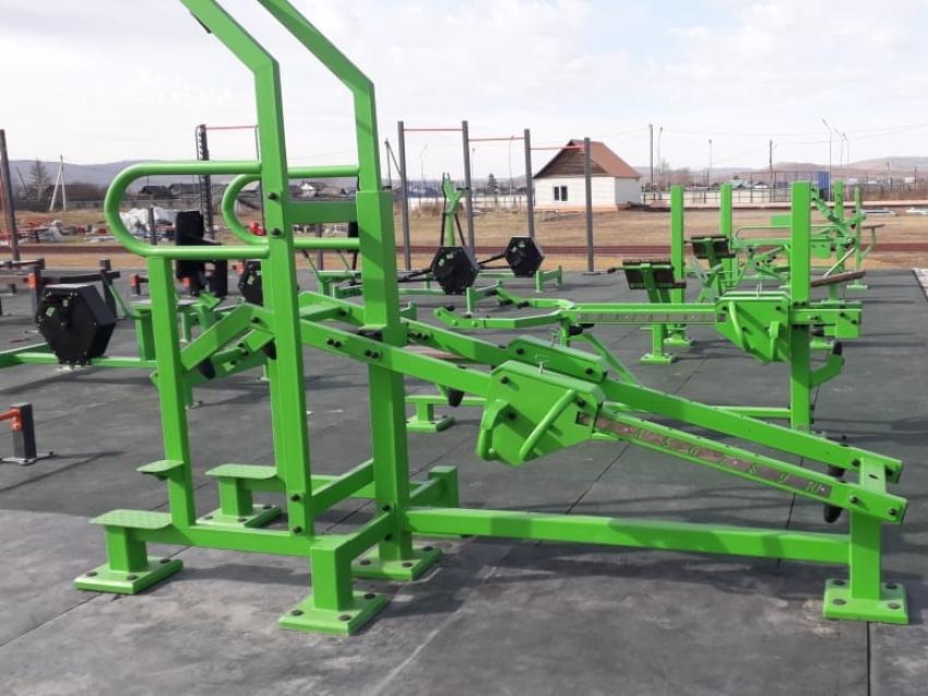 Спортивные площадки комплекса ГТО установлены в Газимуро-Заводском и Чернышевском районах
