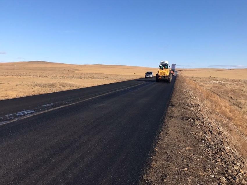 Ремонт автомобильной дороги Краснокаменск - Мациевская по нацпроекту – в стадии завершения