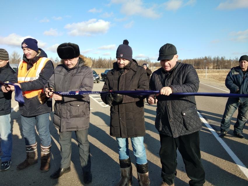 В Забайкалье официально введен в эксплуатацию участок реконструкции автодороги на Подъезде к селу Беклемишево