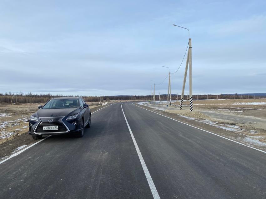 В Забайкалье завершили реконструкцию местной дороги на подъезде к селу Тасей